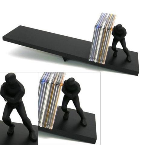 pushing man