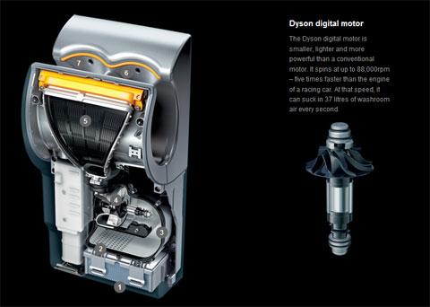 Dyson airblade - cấu tạo hoạt động bền trong
