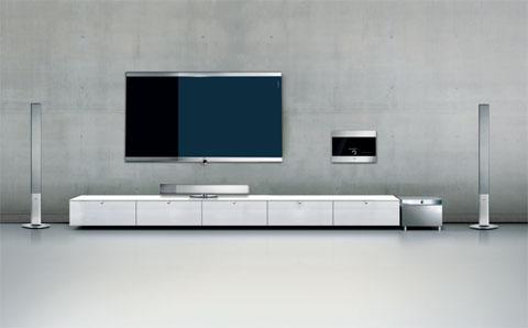 Loewe Mediacenter cho phép đọc và thu tín hiệu đĩa CD, DVD, đường cáp dữ liệu