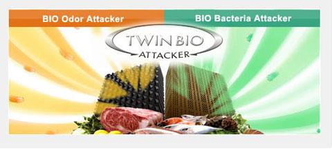 Hệ thống lọc mùi sinh học kép khử mùi khó chịu từ thịt cá và rau quả