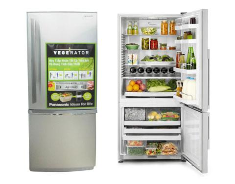 Dòng tủ lạnh Vegerator có thiết kế đặc trưng là ngăn đông được đặt phía dưới ngăn mát