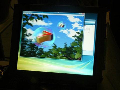 màn hình LCD của Toshiba cho phép hiển thị hình ảnh 2D và 3D cùng lúc
