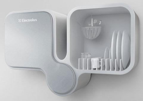 máy rửa bát sử dụng sóng siều âm thay thế nước của Electrolux