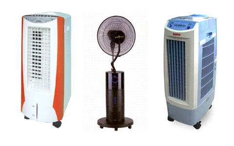 Nền dùng quạt hơi nước nền dùng ở những phòng thông thoáng.