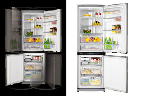 Sharp Dual Swing Fridge
