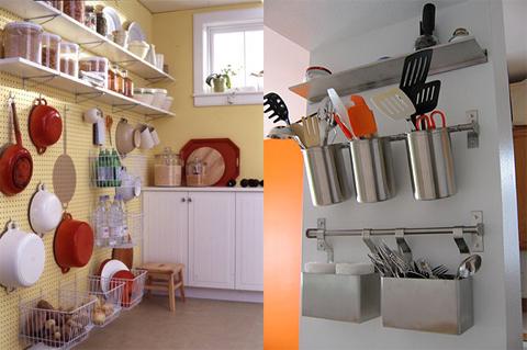 Giá treo cho bếp hẹp