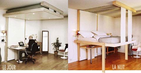 giường treo - tận dụng không gian