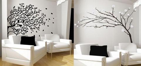 dùng decal trang trí tường
