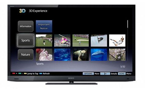 Sony, 3D Experience, dịch vụ xem phim 3D trực tuyến