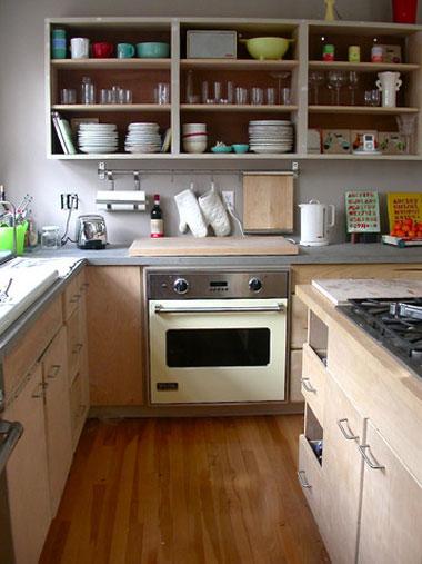 tạo thềm không gian nhà bếp