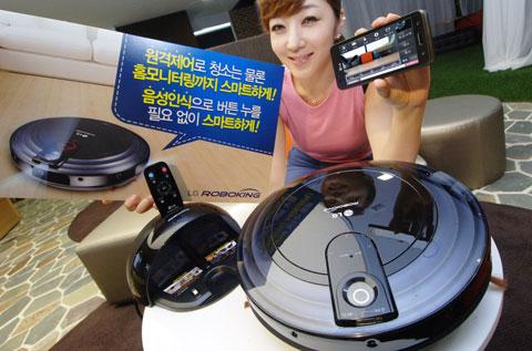 LG, VR6180MNC, robot hút bụi kết nối wifi đầu tiền
