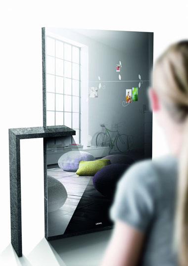 HDTV, concept, Loewe, Pivot, Mirror, Floor to wall, concept TV của Loewe tại IFA 2011