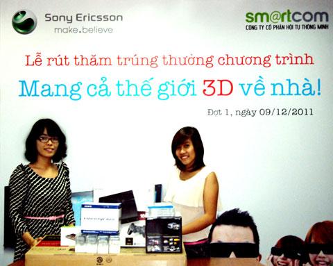 Sony Ericsson, 3D, Xperia Arc, LCD, trung thưởng, mang cả thế giới 3D về nhà