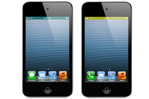 Apple, iphone, WeatherBar