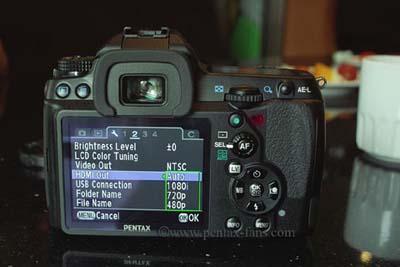 Pentax K-7 có màn hình LCD 3''