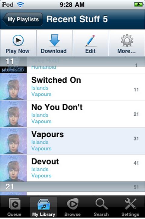 My playlists
