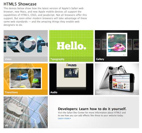 Demo HTML5 Apple