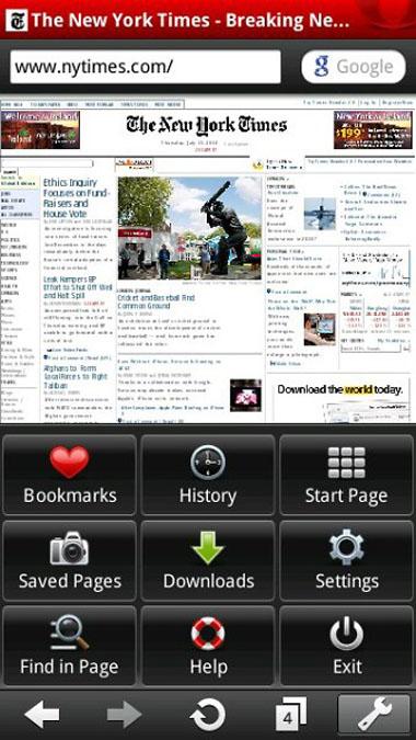 Opera Mobile 10.1 beta