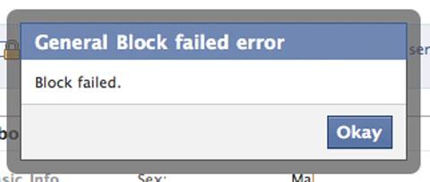 block failed
