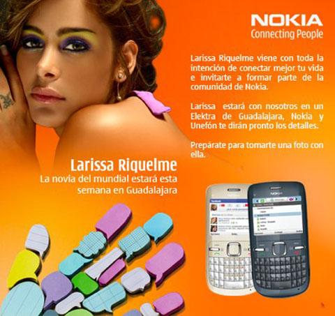 Larissa Riquelme Nokia C3