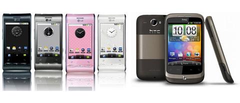 LG Optimus HTC Wildfire