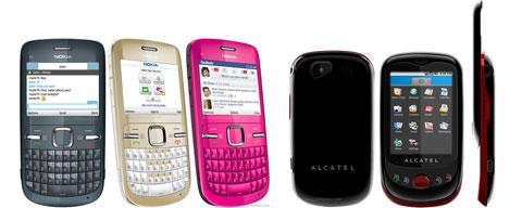 Nokia C3 Alcatel OT-980