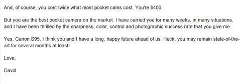 Camera love letter