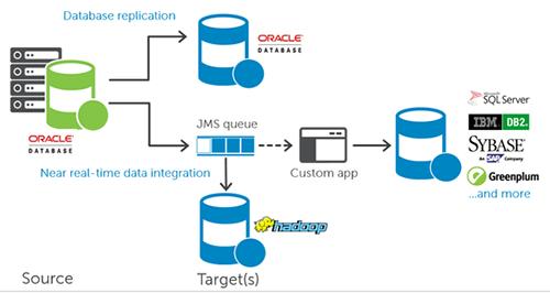 Dell, SharePlex, Oracle, SQL server, DB2, Sybase, Hadoop, Netezza, Teradata và Greenplum