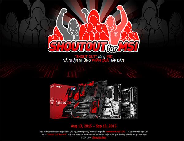 Shout Out cho MSI chính thức hoạt động