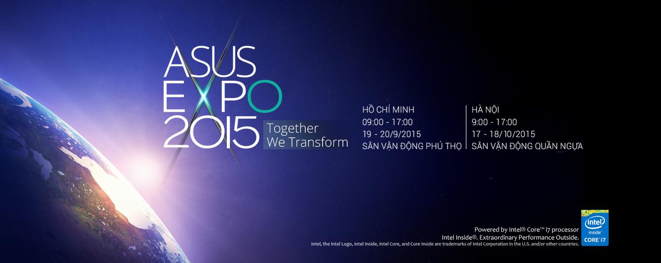 Triển lãm ASUS EXPO 2015 chinh thức đăng ký trực tuyến