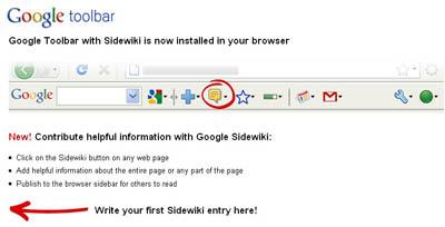 Google Sidewiki