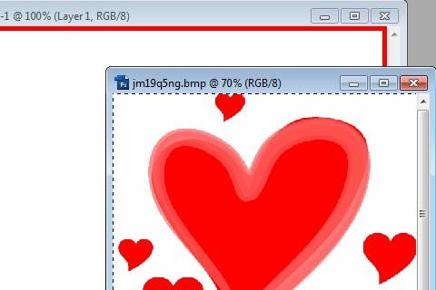 làm thiệp valentine bằng photoshop