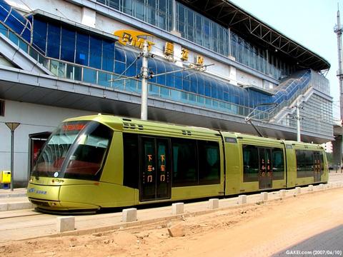 Xe điện Translohr tại Thiền Tân - Trung Quốc (ảnh: gakei)