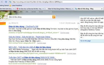 Đoạn text ngắn mô tả nội dung tìm kiếm. Ảnh chụp màn hình