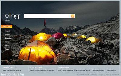 Microsoft Bing. Ảnh chụp màn hình