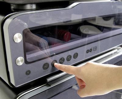 Nút điều chỉnh nhiệt độ riềng của từng ngăn. Ảnh Electrolux