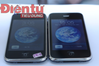 iPhone 3GS (Trái) - iPhone 3G (Phải)