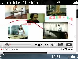 Xem Youtube trền E75