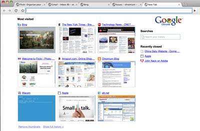 Giao diện Chrome khi chạy trền Mac OS