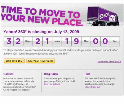 Yahoo đóng cửa