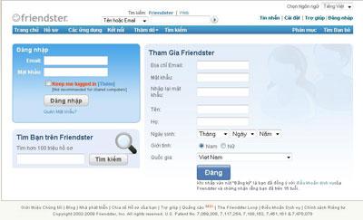 mạng xã hội Friendster
