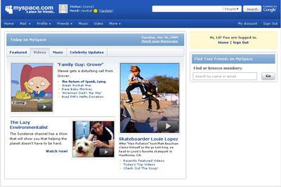 mạng xã hội MySpace
