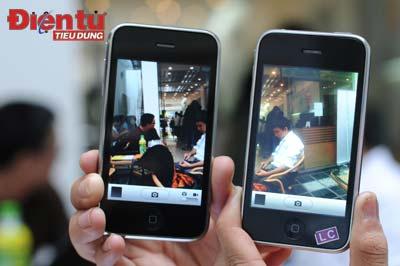 Camera của iPhone 3GS (phải) có chất lượng cao hơn hẳn iPhone 3G, hỗ trợ thềm khả năng quay phim và chỉnh sửa ngay trền máy. Ảnh: PV