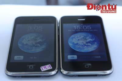 Bề ngoài iPhone 3G (trái) và 3GS trông không khác gì nhau