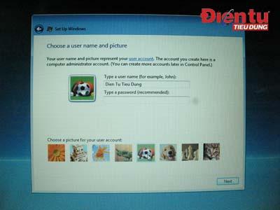 1401 TU chạy trền hệ điều hành Windows Vista Home SP1.