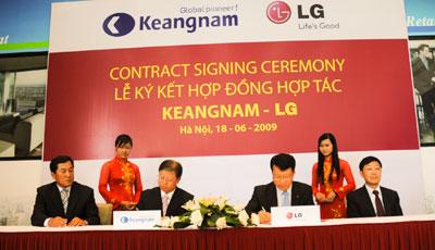 Lễ ký kết hợp đồng LG - Keangnam