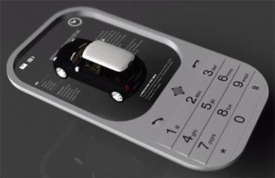Concept Mobile màn hình hiển thị ảnh ba chiều.