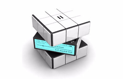 Rubik Cube Mp3 Player Ảnh: Yankodesign